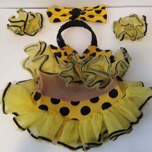 Girl's Costume Awish Come True sz 6x -7 Polka Dots